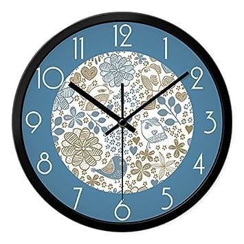YHEGV Y Relojes Modernos Relojes Horarios Reloj de Pared del salón Paneles - Reloj de Pared Tema tranquilamente, 12 a la aduana, Black Box: Amazon.es: Hogar