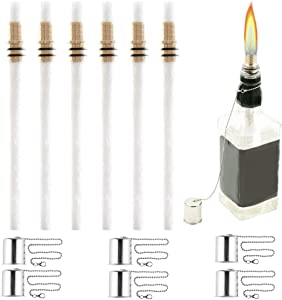 OEXEO 6PCS Wine Bottle Torch Wicks, Torch Light,Outdoor Torches,Table Torch,Citronella Torch,Garden Torch,Patio Torches,Citronella Torches(Bottle not Included)