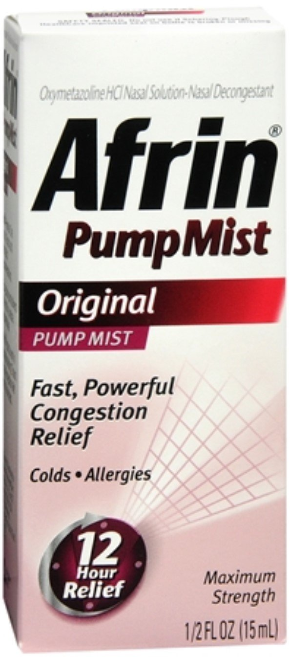 Afrin Pump Mist Original 15 mL (Pack of 6) by Afrin