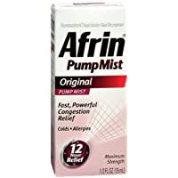 Afrin Original Maximum Strength 12 Hour Nasal Congestion Relief Pump Mist - 15 mL