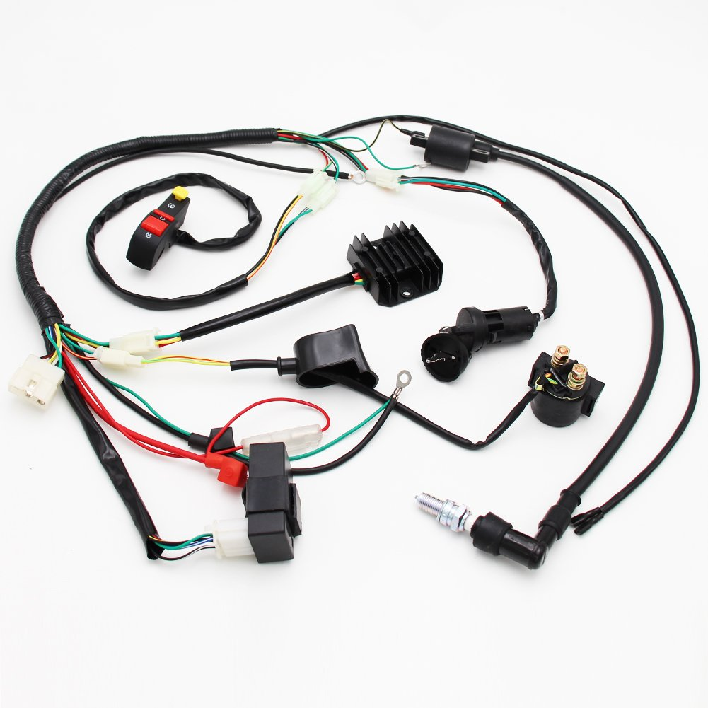 Complete Electrics Wiring Harness D8ea Spark Plug Cdi Loncin Atv Ignition Coil Kits For Chinese Dirt Bike 150cc 200cc 250cc Zongshen Automotive