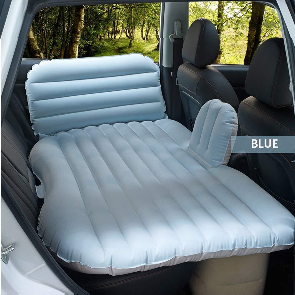 KANGLE Autokennwehen, Luftbett, Bequeme Travel Inflatable SUV Car Back Seat Cushion Air Matress mit Luftpumpe für Camping Trip (1350  850mm)