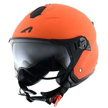 Astone Helmets MINISPORT-MORL Minijet Sport - Casco de motocicleta, Naranja Mate, L