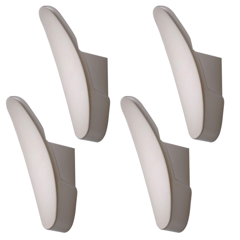 4 unidades Ganchos para toallas de ba/ño armario lavander/ía Otome ropa sombreros balc/ón garaje perchas para colgar en la pared para cocina bolsos abrigos