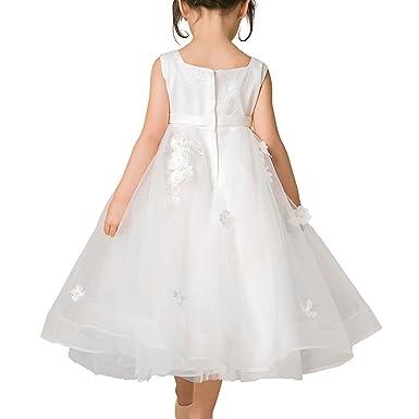 f6587fce6de4 Abbyabbie.Li Girl s Flower Dresses Sleeveless Tulle Wedding Pageant ...