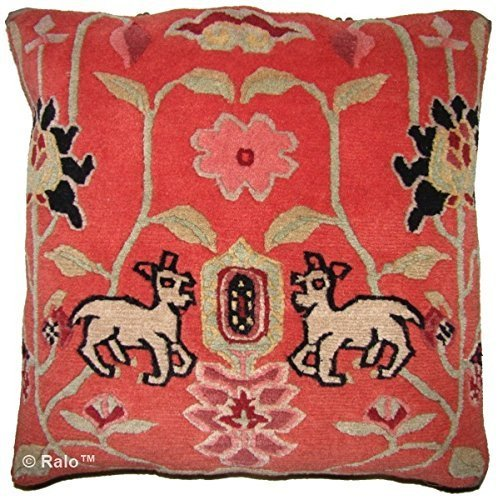 Ralo decorative tibetan rug pillow