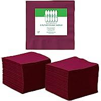 Perfect Stix servilletas de 2 capas, 100 unidades, servilletas de papel para cóctel, 2 capas, Burgundy