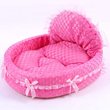 Vivian Inc Sofas & Chairs - Dog Bed Soft Sofa Design Cute with Pink Lace Luxury