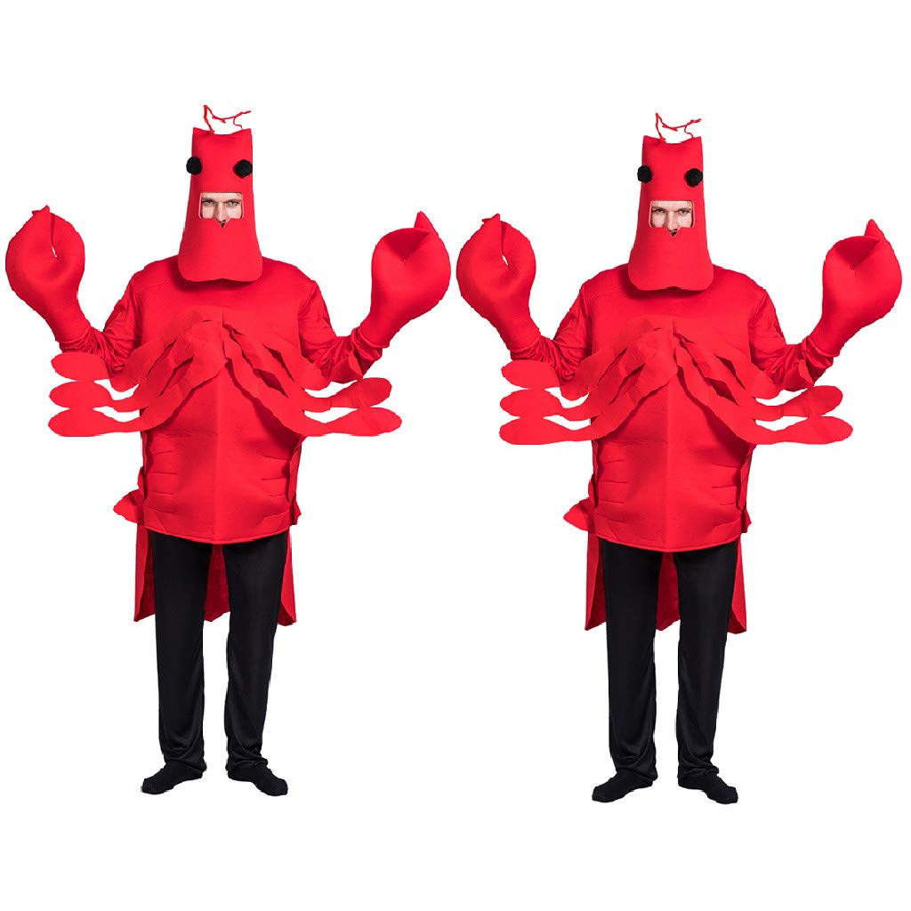 Cosplay Costume,Meetsunshine Adult Halloween Stage Costume Spoof Lobster Expression Cosplay Clothes Props by Meetsunshine Halloween
