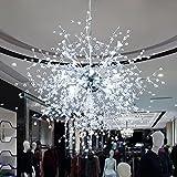 WAMLF pendant light Modern creative cafe restaurant LED chandeliers, dandelion fireworks and crystal chandeliers, diameter 60 cm