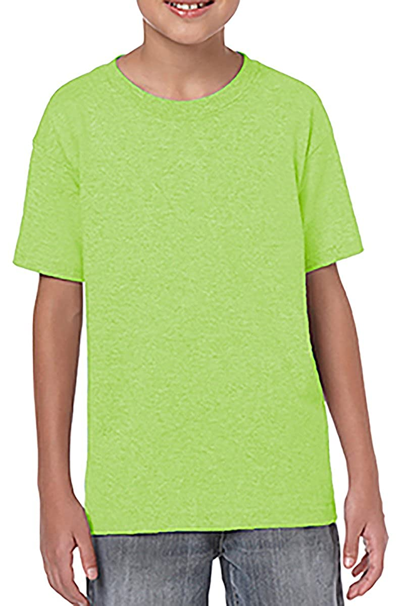 LIME Gildan Youth Softstyle 45 oz T-Shirt Style # G645B - Original Label S -