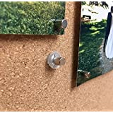 8 Pack Magnet Makers - Innovative Thumbtack + Magnet - Make Any Surface Magnetic & Hang Pictures, Posters, Maps, Etc. With NO HOLES! Works on Walls, Bulletin Boards, Cork & More!