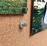 8 Pack'Magnet Makers' - Innovative Thumbtack + Magnet - Make Any Surface Magnetic & Hang Pictures, Posters, Maps, Etc. Works on Walls, Bulletin Boards, Cork & More!