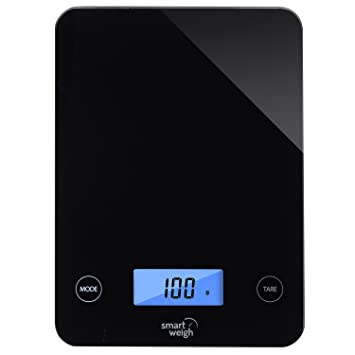 smart weigh digital glass top kitchen and food scale 5 unit modes