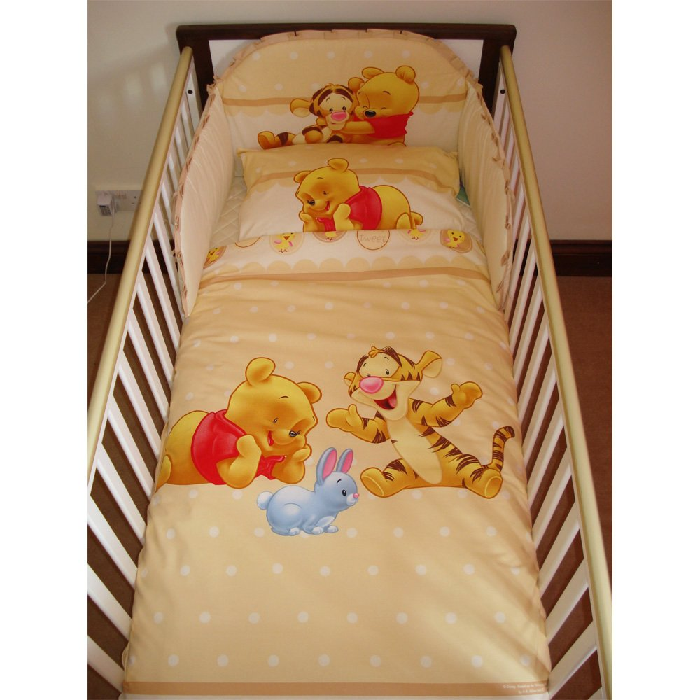 Disney Winnie & Tigger Bedding Set for Cot or Cotbed Beige (Cotbed - 140 x 70cm) SleepLittleBaby