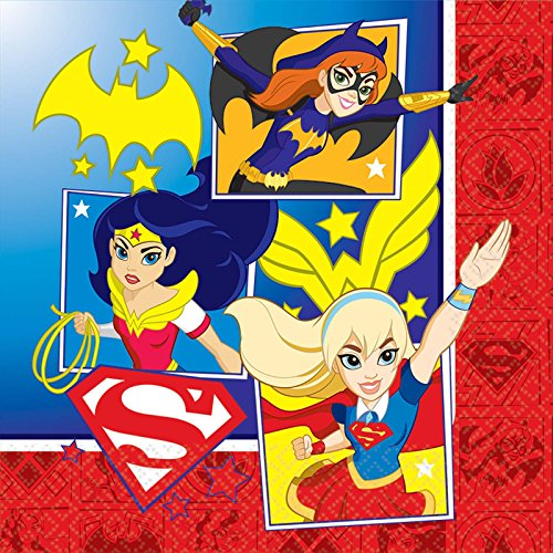 American Greetings DC Super Hero Girls Lunch Napkins (16 Count) (Wonder Woman Party)