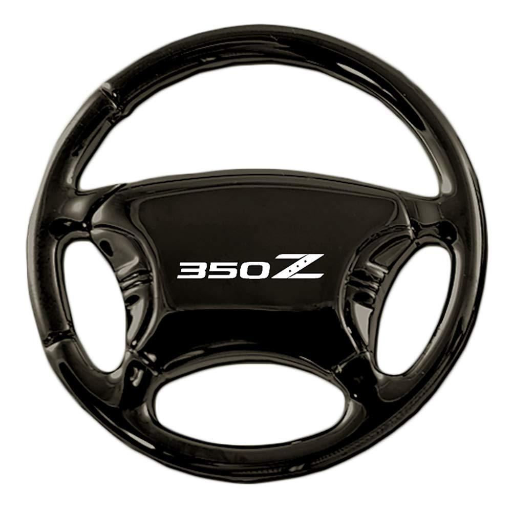 Au-TOMOTIVE GOLD Compatible Keychain and Keyring for Nissan 350Z [KC3019.350] - Black Steering Wheel