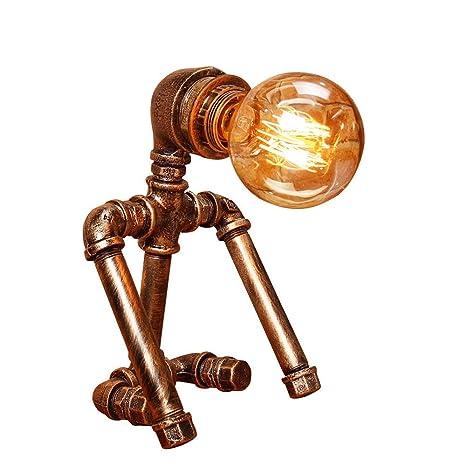 Lámpara vintage industrial de hierro forjado de metal decorativa ...