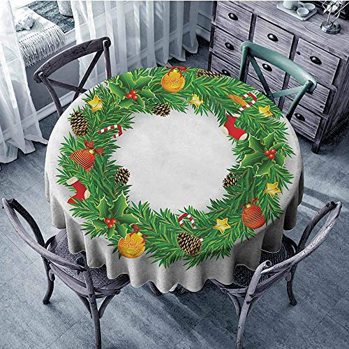- HeKua Christmas,Round Tablecloth D 54