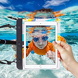 """I-Sonite Black Universal Waterproof Tablet Case Bag with Adjustable Neck Strasp Water For iBall Slide Octa A41 - 7"""""""