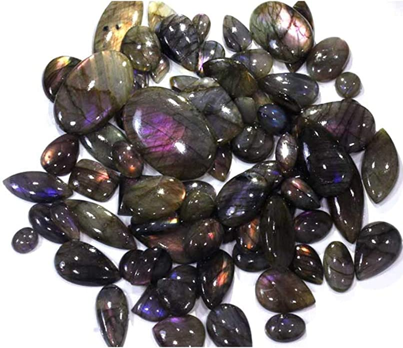 Pear Shape Size 38x26x7 MM Multi Purple Flashy Labradorite Cabochon Loose Gemstone Use For Jewelry Fabulous Labradorite Cabochon Gemstone