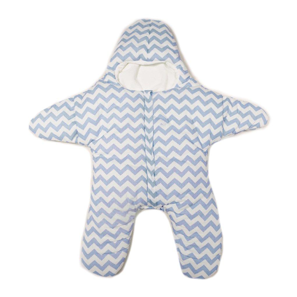 m-egal小さなヒトデSleepingバッグ赤ちゃんコットンSleepingバッグWarm Light Weightグリーン ブルー AMZegal10876 B01MQFBYEQ ブルー ブルー