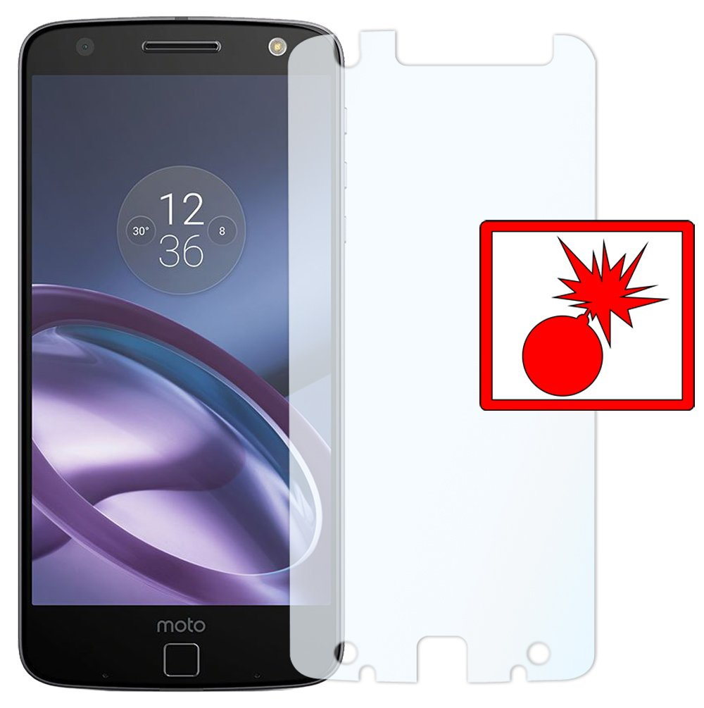 Shockproof CLEAR invisible MADE IN GERMANY Slabo 2 x armor screen protector Lenovo Moto Z screen protection protective film reduced dimensions of the screen protectors due to a curved display