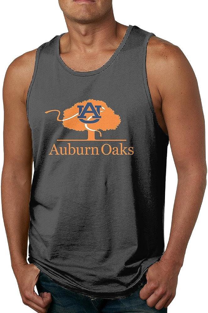Boss-Seller Men's Funny Auburn Tree Logo University Tank Top Black