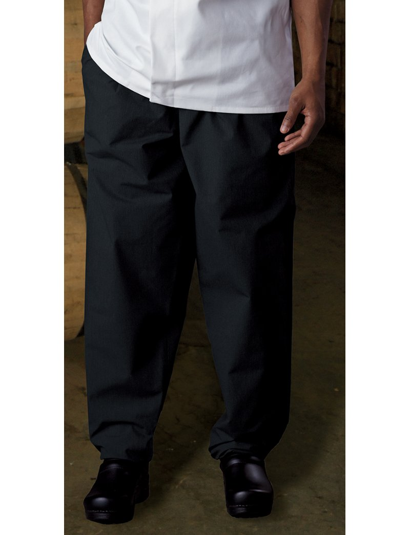 Classic Baggy Chef Pant with Zipper, 65/35 Poly/Cotton Green Tab by Uncommon Threads