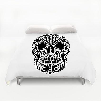 nlbh diseños tatuaje tribal Calavera Vector Art funda de almohada 4 conjuntos