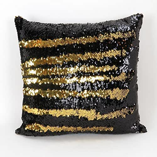 Amazon Com Mermaid Pillow Cover Gold And Black