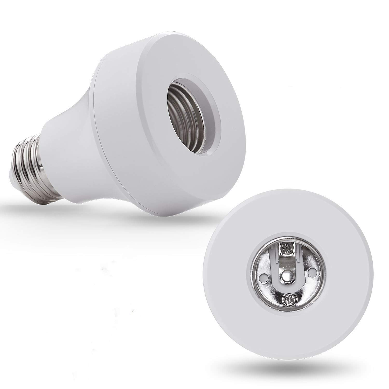 WiFi Smart Light Bulb Socket Bulb Adapter Base Converter E26 Lamp Holde Plug Works with Alexa and Google Home Assistant Phone APP Remote Control Your Fixtures From Anywhere Timing Function