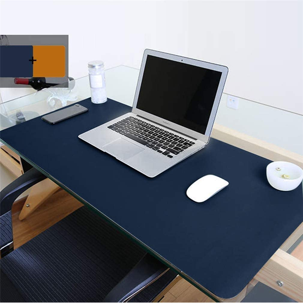 Color : Black Keyboard Pads Non-Slip PU Leather Desk Pad Ultra Thin Waterproof Mouse Mat TRDyj Mouse Pad Large Extended Gaming Mouse Pad Office Home Desks