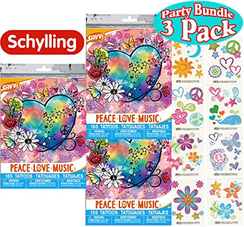 Savvi Temporary Tattoos Peace Bundle product image