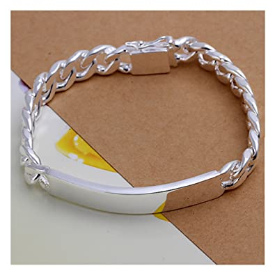 NYKKOLA Beautiful Fashion Jewelry Classic 925 Sterling Silver plated Snake Chain Bracelet For Women Mens xM0kd1p