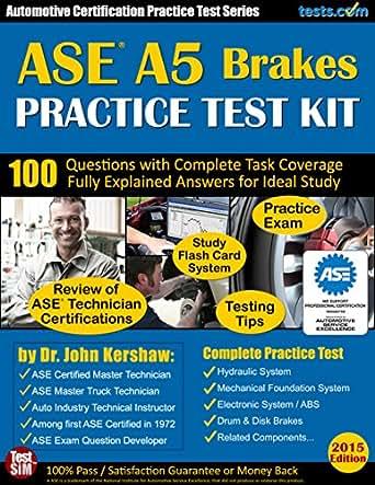 Just Brakes Coupons >> Amazon.com: ASE A5 (Brakes) Practice Test Kit - Automotive ...