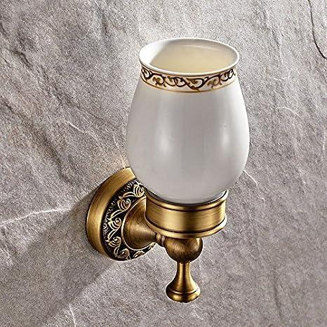 QUEENS Continental pedestal tallado cristal accesorios de baño antiguo porta cepillo de dientes de montaje en