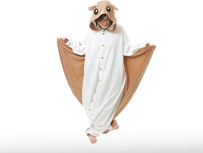 Flying Squirrel Kigurumi Cushzilla Animal Adult Anime Costume Pajamas Standard Amazon De Bekleidung