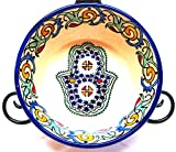 Product review for Moroccan Hand painted Ceramic Soup/Salad Bowl Plate Arabic Design
