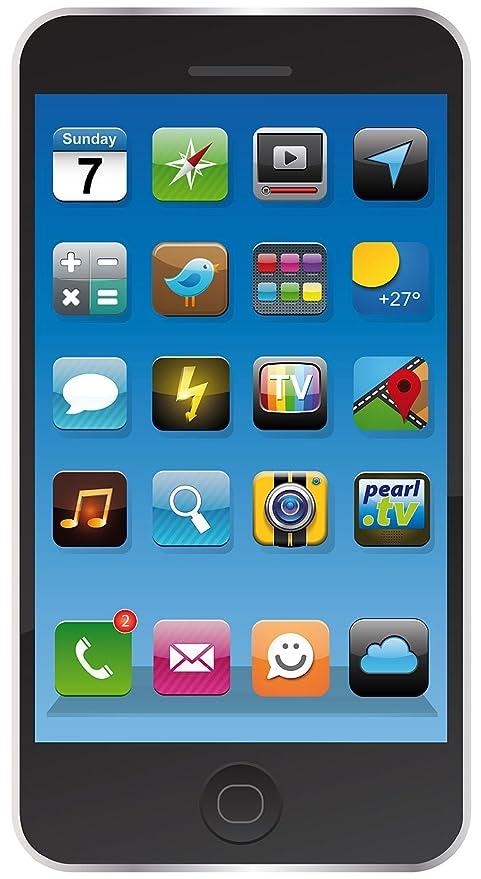 Pearl Toalla de microfibra para playa con diseño de smartphone, 170 x 100 cm,