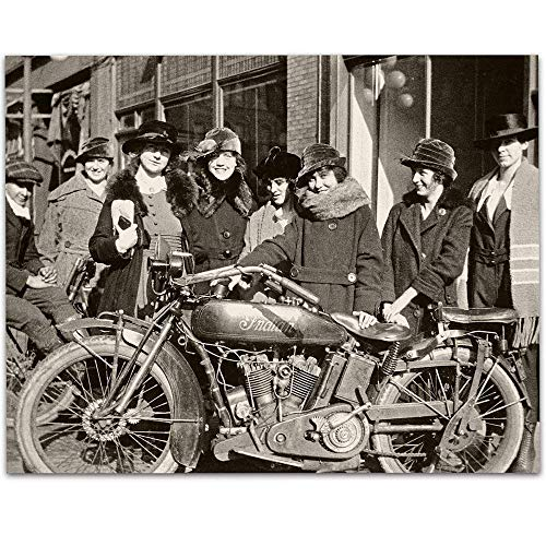 Indian Motorcycle Biker Babes - 11x14 Unframed Art Print - Great Gift Under $15 for Motorcycle Riders