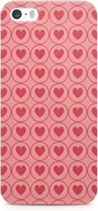 iPhone 5s Case Valentines Day Couples Love Heart Pattern Sleek Low Profile Scratch Resistant Wrap around iPhone 5 Case 43