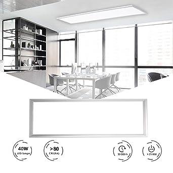 HOMEDEMO LED Deckenleuchte Warmweiss LED Panel 120x30 cm Ultraslim  Deckenleuchte für Wohnzimmer Schlafzimmer Küche Flur LED Deckenlampe mit ...