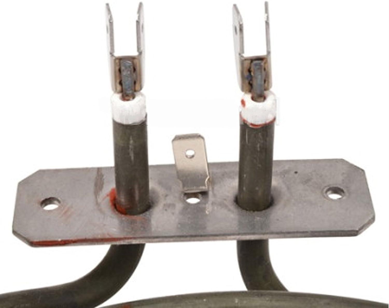 2500W, 230v SPARES2GO 3 Turn Heater Element for Prestige Fan Oven Cooker