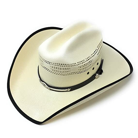 6affadb1 Cotswold Country Hats Cream Cowboy Hat with Leather & Rope Trim - Stiff  Bangora Straw