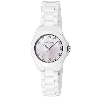 aa601d3d80 コーチ トリステン ミニ セラミック レディース 腕時計 CO14502154 ホワイト[並行輸入品]