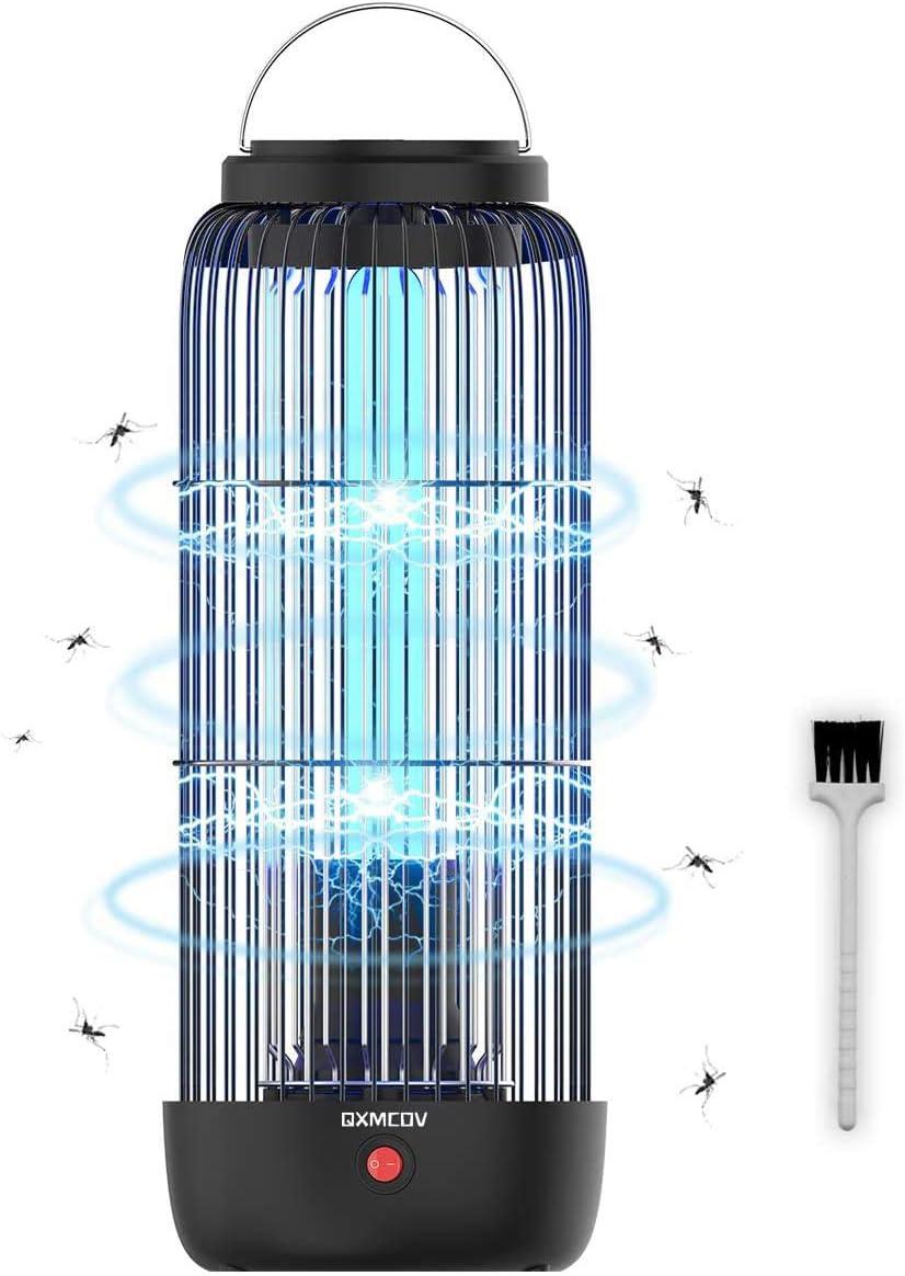 Lámpara Antimosquitos Electrico, 11W 40m² 360°UV No Tóxicos Mata Mosquitos Interior, Repelente Mosquito Insectos Moscas Polillas, 2 en 1 Luz de Noche ...