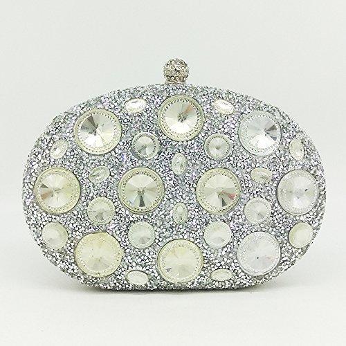 Bag Blue Mini Colored Bag Myj Lady Silver Banquet Clutch Hand Bag Lady Dinner Diamond Diamond Bag Hot Rhinestone axfqwZOx