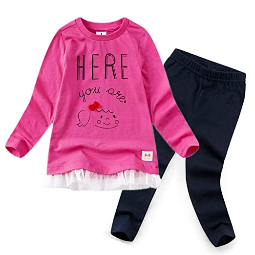29e552f697f73 CuteMe Cute Baby Girls Clothes Long Sleeve Cartoon Tutu Top Pants Toddler  Clothes Sets 2pcs Fall