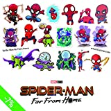 H2 Studio Decal sticker pack of Spiderman Far From Home, Small Stickers for Laptop Fridge Bicycle Phone Guitar Cartoon Anime Stickers